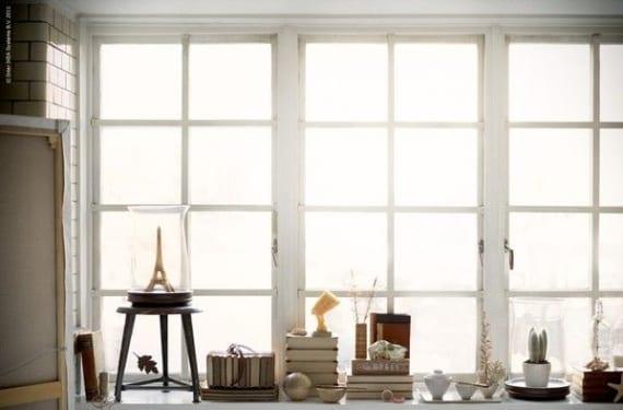 Alféizar como estantería o vitrina
