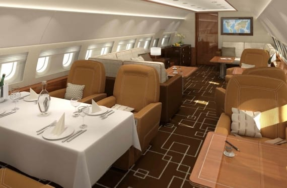 Diseño de interiores del Airbus ACJ319