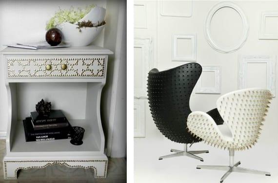 Muebles con tachuelas