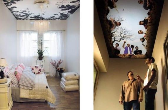 C mo decorar el techo de forma original - Paredes pintadas originales ...