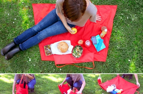 Manta cesto para picnic