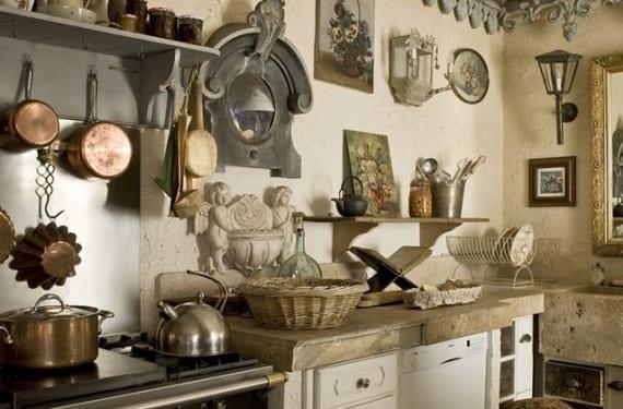 Acumulación de objetos en la cocina