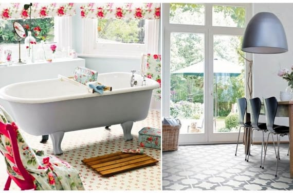 Azulejos en vinilo para redecorar tu suelo for Vinilo azulejo hidraulico