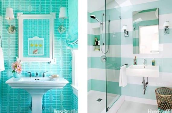 Baños en verde agua