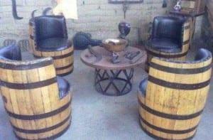 Barricas de vino para amueblar