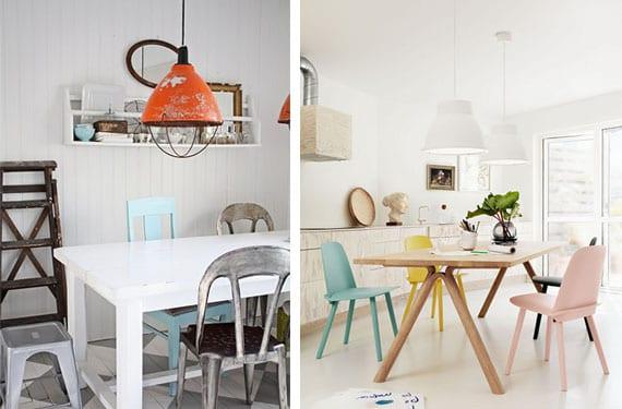lamparas colgantes luz directa en tu cocina