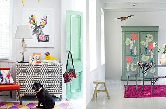 Cómodas y armarios decorados