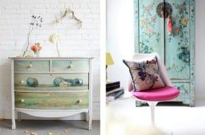 Cómodas y armarios decoradas