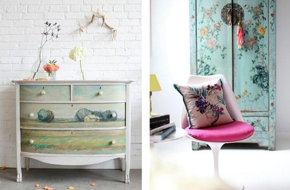 C modas y armarios decorados y pintados a mano - Muebles decorados a mano ...