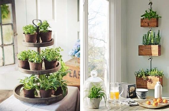 Jard n de hierbas arom ticas en la cocina - Plantas aromaticas en casa ...