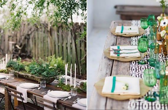 Mesa de fiesta en el jardín