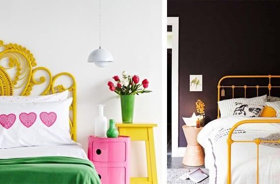 Detalles amarillos decoración