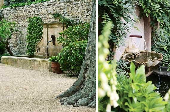 Fuentes de pared jardín