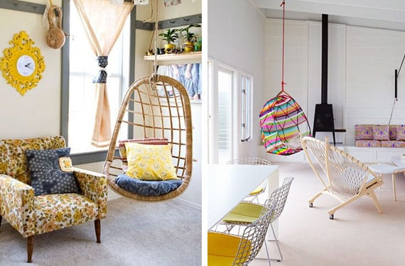 Sillas colgantes un elemento distintivo en tu hogar for Sillas para habitaciones