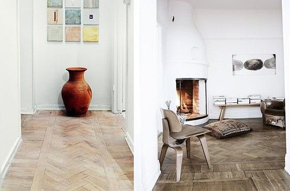 Suelos de madera decorativos patr n espina de pescado - Tipos de suelos de madera ...
