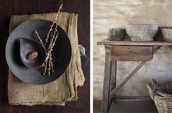 Objetos decorativos Wabi Sabi