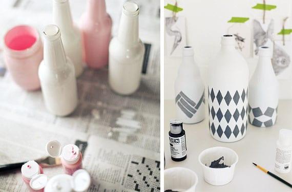 Botellas pintadas