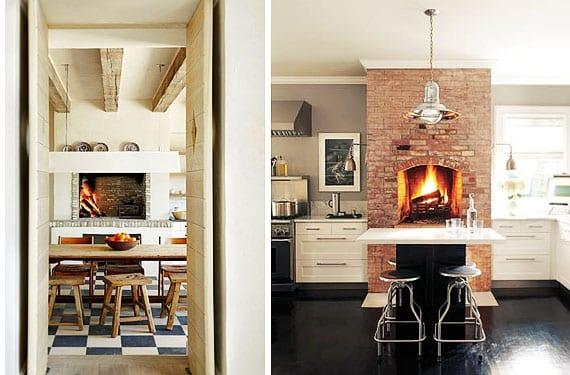 cocinas con chimenea en ambientes r sticos y urbanos