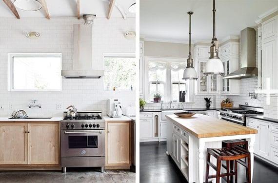 Decorar con madera una cocina blanca
