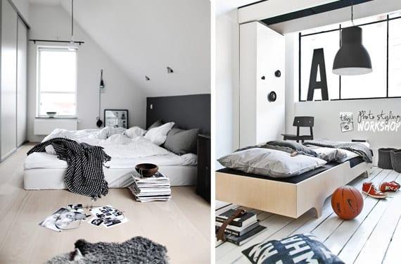 Dormitorios blanco y negro