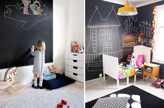 Pinturas de pizarra para las habitaciones infantiles - Pintura para habitacion de ninos ...