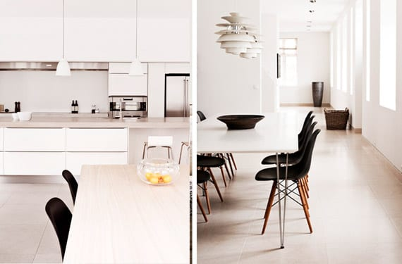 Interiores de una casa minimalista
