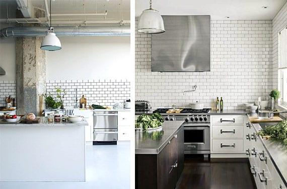 Azulejos color blanco para tu cocina for Ceramicas para cocinas modernas