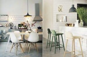 Cocina moderna azulejo blanco