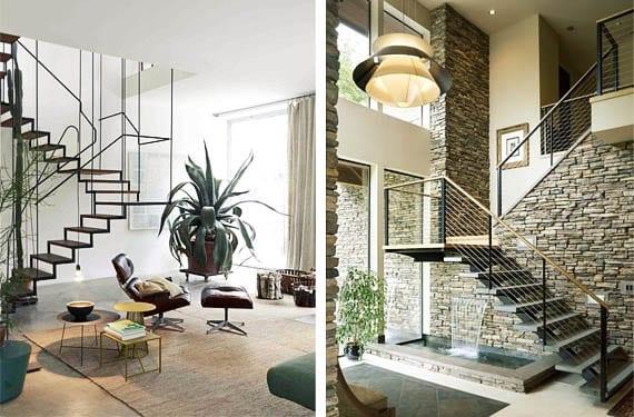 Escaleras flotantes para espacios de vanguardia for Escaleras minimalistas interiores