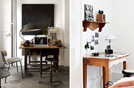 Mesas y escritorios vintage para decorar tu rinc n de trabajo for Escritorios rusticos para oficina