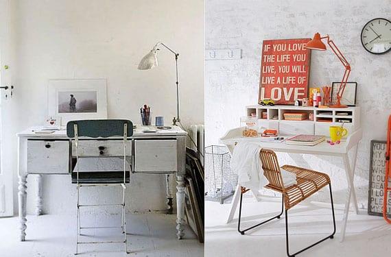 Mesas y escritorios vintage para decorar tu rincn de trabajo