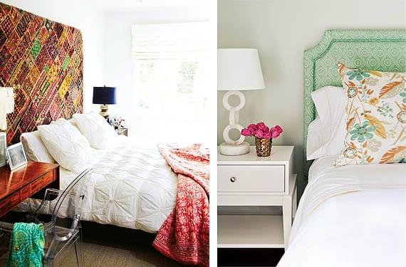 Cabecero estampado dormitorio