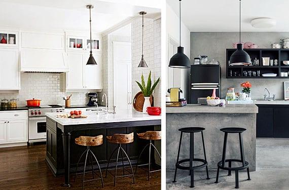 trendy beautiful cocinas blanco y negro with cocinas blancas y negras modernas with cocinas blanca y negra - Cocinas Blancas Y Negras