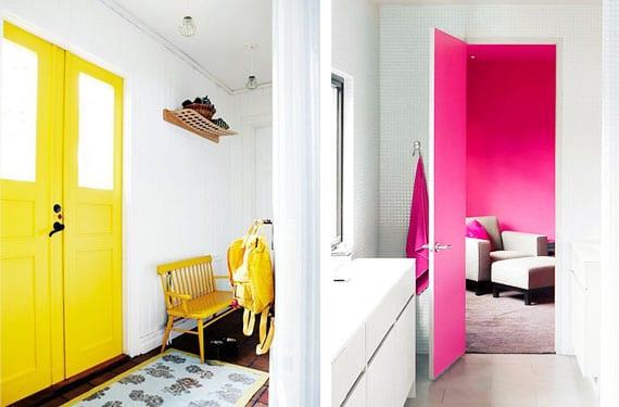 Dala a tus puertas una mano de color for Colores para pintar puertas de interior