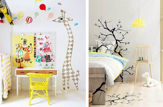 Vinilos decorativos habitación infantil