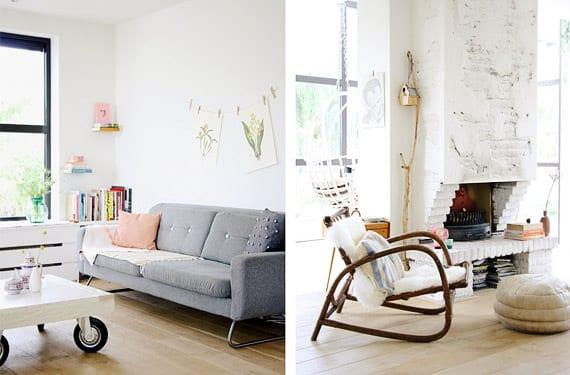 Casa moderna en colores suaves