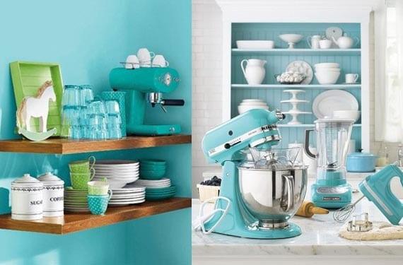 Decora tu cocina con color turquesa for Utensilios decoracion cocina