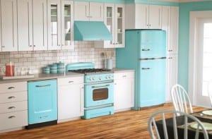 Decora tu cocina en color turquesa