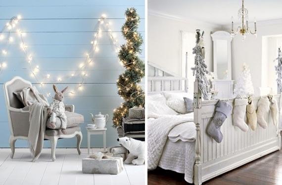 Decoración navideña en tonos fríos