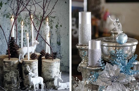 Detalles navideños en tonos fríos