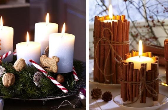 DIY de Navidad con velas