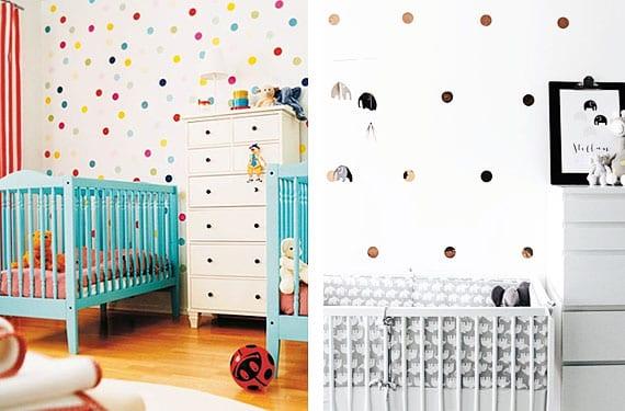 Como decorar con lunares las habitaciones infantiles - Decorar habitacion infantil nino ...