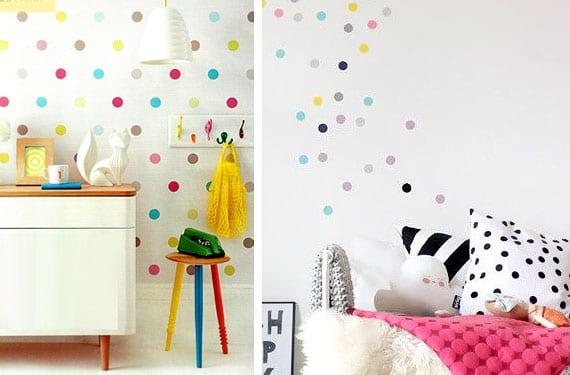 Como decorar con lunares las habitaciones infantiles - Pintar habitaciones infantiles ...