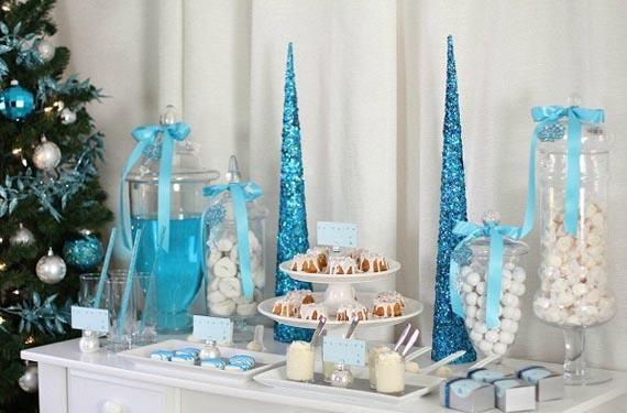 Mesas dulces en tonos fríos