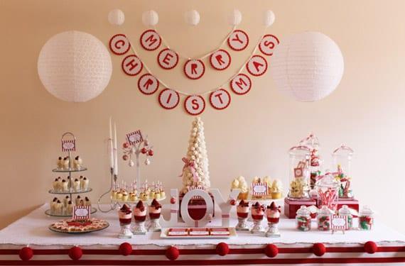Mesas dulces en rojo