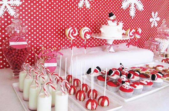 mesas dulces para navidad