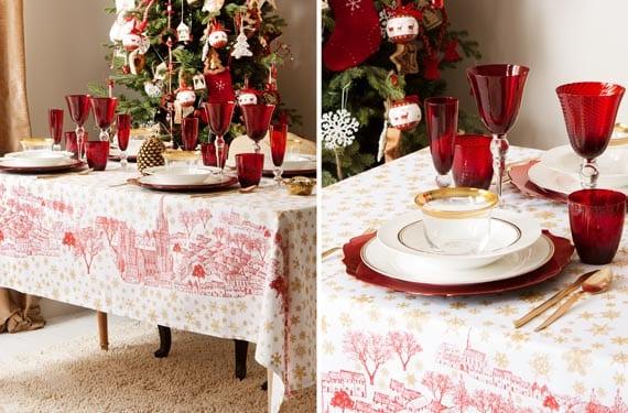 Mesas navideñas cálidas