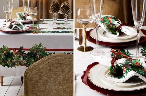 Mesas navideñas rústicas