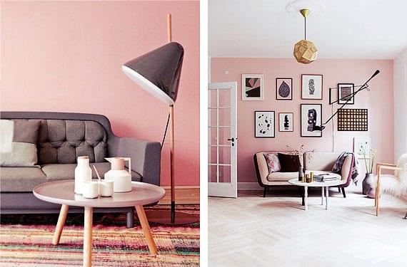 Salones con paredes color rosa diferentes - Colores para paredes de salon ...
