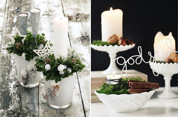 Velas mesa Navidad